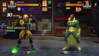 Buffed Sentry vs Vision with node map 6 | Marvel contest