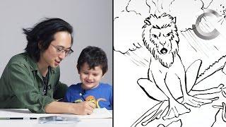 Ernie Describes God to Koji the Illustrator