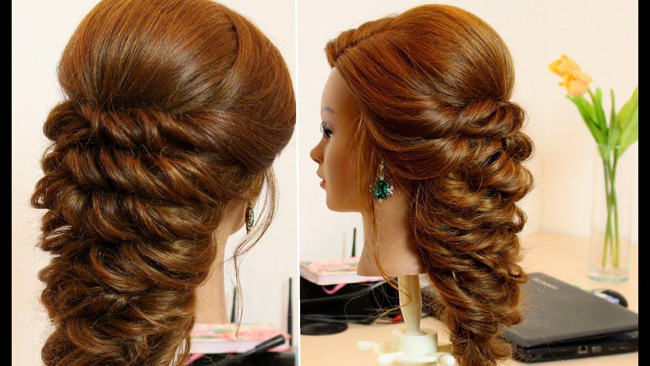 Модные прически с плетением на длинные волосы