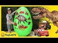 Giant Egg Surprise with Dinosaurs vs Car...mp3
