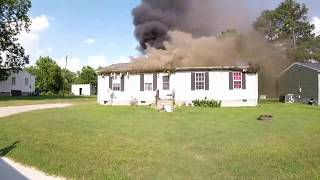 House Fire Greensville County VA 6/19/2018
