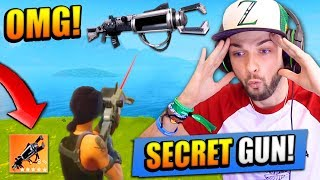 The SECRET GUN in Fortnite: Battle Royale! (Zapatron SNIPER)