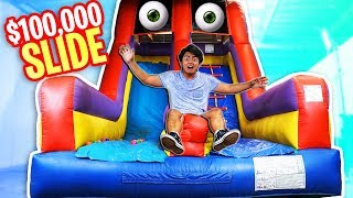 Trapped in a $100k BOUNCY Slide!