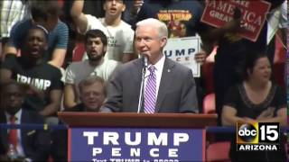 """Jeff Sessions Enjoying a """"Lock Her Up"""" Chant"""