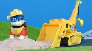PAW PATROL deutsch: Bagger & Kran von PUPS Rubble | Paw Patrol Bagger Bau Kinderfilm