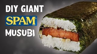 DIY GIANT SPAM MUSUBI - IN HAWAII!! 🍣🍚