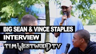 Big Sean crashes Vince Staples interview at Wireless - Westwood