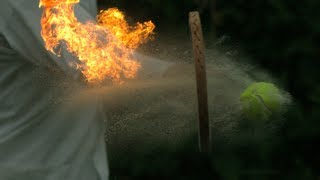 Fire Tennis - The Slow Mo Guys