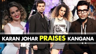 Karan Johar praises Kangana Ranaut's Acting on the sets of India's Next Superstar | SpotboyE