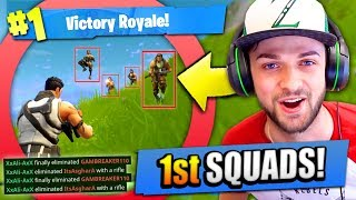 Ali-A's 1ST SQUADS EVER in Fortnite: Battle Royale!