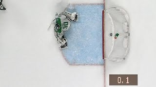 Yakupov uses huge slap shot to score with less than a second left in period