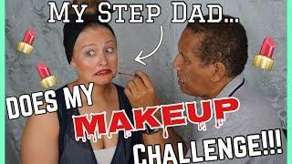 MY STEP DAD DOES MY MAKEUP CHALLENGE! Kalyn Braun