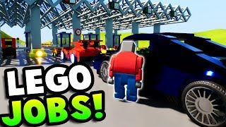 FINDING NEW JOBS IN LEGO CITY! - Lego Brick Rigs Gameplay Roleplay - Fun Lego Jobs & Jailbreak!