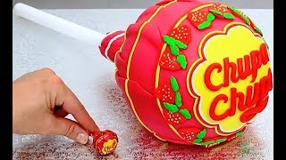 CHUPA CHUPS Cake with SURPRISE Inside by Cakes StepbyStep