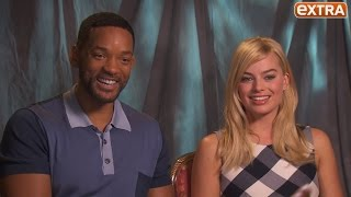 Watch Margot Robbie Beg Will Smith to Join