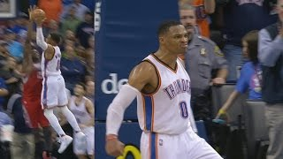 Russell Westbrook Dunks on Clint Capela! Posterized! James Harden Rockets vs Thunder