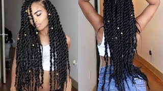 Senegalese | Havana | Jumbo Twists Natural Hair tutorial (Miami Slay)