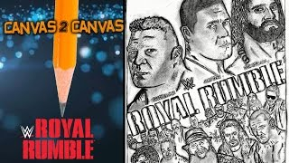From the WWE Canvas to the Art Canvas - Official 2015 Royal Rumble Poster - Canvas 2 Canvas
