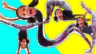 Bad Baby Crazy Gymnastics Chase!! Shasha and Shiloh Fun - Onyx Kids