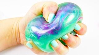 GALAXY Antistressball | Mega schöner Schleim Ball mit super viel Glitzer | DIY Idee