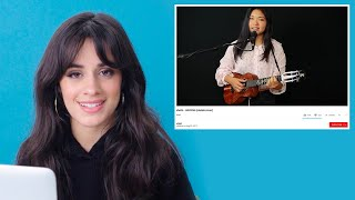 Camila Cabello Watches Fan Covers On YouTube | Glamour
