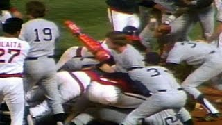 NYY@CAL: Melee erupts after plays at plate