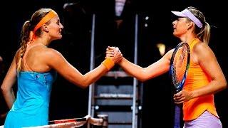 2017 Porsche Tennis Grand Prix Semifinals   Kristina Mladenovic vs Maria Sharapova   WTA Highlights