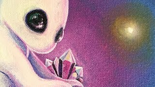 NEW PAINTING SERIES! - Creatures from Another Planet - Acrylic Painting