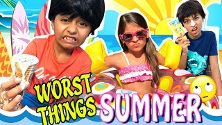Summer Funny Skit - 10 Worst Things In Summer 2017 : Comedy Kids // GEM Sisters