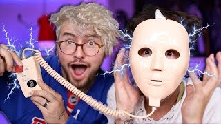 GUYS TRY GIRL PRODUCTS 4 (ELECTRIC SHOCK FACE MASK!!!)