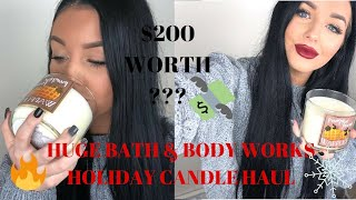 HUGE BATH & BODY WORKS HOLIDAY CANDLE HAUL | Alexis Luft