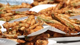 Matt Stonie vs Joey Chestnut | Deep Fried Asparagus 2014