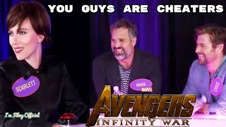 Avengers: Infinity War Cast Play Family Feud - Try Not To Laugh 2018