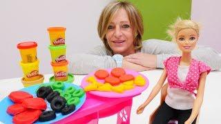 Spielspaß mit Barbie - Wir machen Frühstück - Spielzeugvideo mit PlayDoh Knete