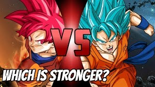 Super Saiyan God Vs Super Saiyan Blue
