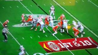 Osu vs clemson game. #42 got a little grab happy in last night game