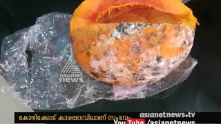 Decayed fruits to make Juice in shop at Kozhikode