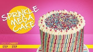 Sprinkles MEGA Cake | Make A Pattern With Sprinkles | Step By Step | How To Cake It | Yolanda Gampp