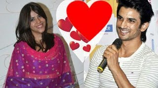 Sushant Singh Rajput says I LOVE YOU to producer Ekta Kapoor in public |New Couple