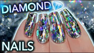 DIY Diamond Nails aka HOLO GET IT STRAIGHT DAMNIT