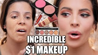 FULL FACE $1 MAKEUP | HIT OR MISS???