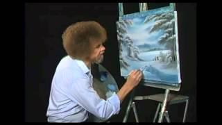 Bob Ross - Malerei verschneiten Einsamkeit - Malerei Video
