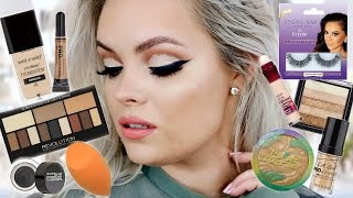 Testing NEW DRUGSTORE Makeup - Full Face First Impressions | Glitter Cut Crease