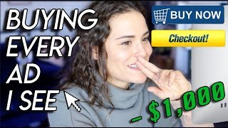 Buying EVERY Advertisement I See! ($1,000 CHALLENGE) | AYYDUBS