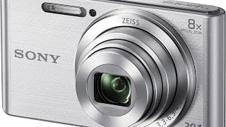 The silver Sony DSCW830 20 1 MP Digital Camera Review