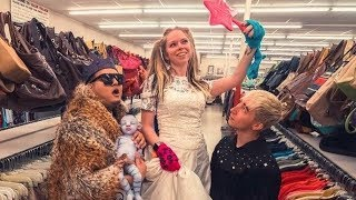 THRIFT SHOPPING for MY WEDDING DRESS?!