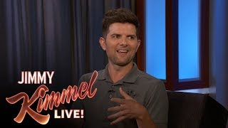 Adam Scott Cried for a Ridiculous Reason