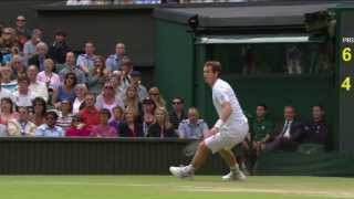 Amazing Andy Murray point at Wimbledon 2013