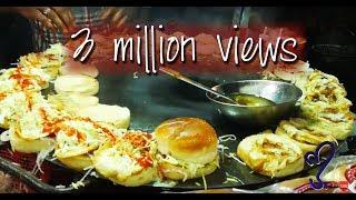 Angry burger, Bun Kabab Street Food Of Karachi, Pakistan