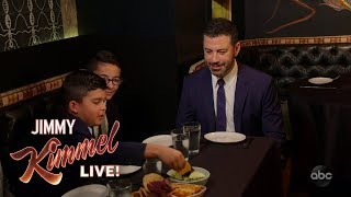 Jimmy Kimmel and His Nephews Eat Insects at The Black Ant in NYC